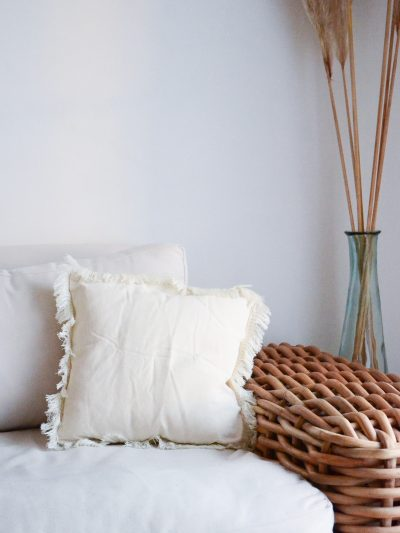 coussin beige patipata